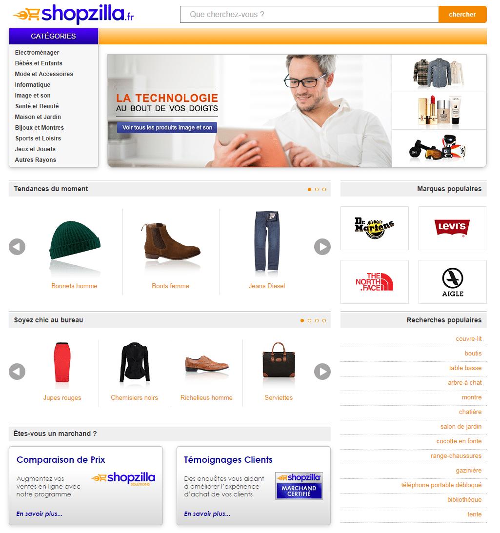 vendre sur shopzilla