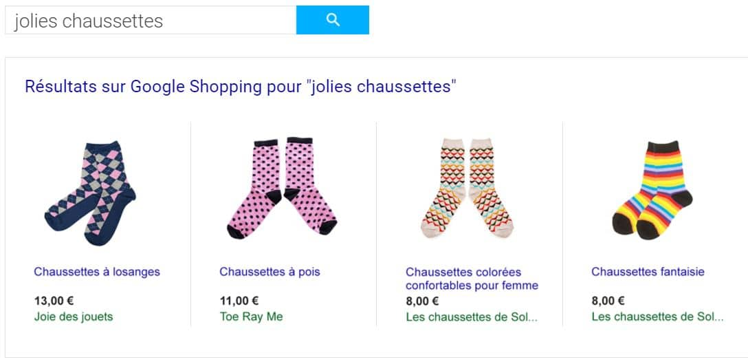 creation flux google shopping