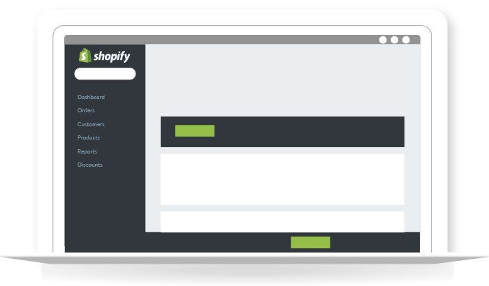 ordinateur portable interface shopify